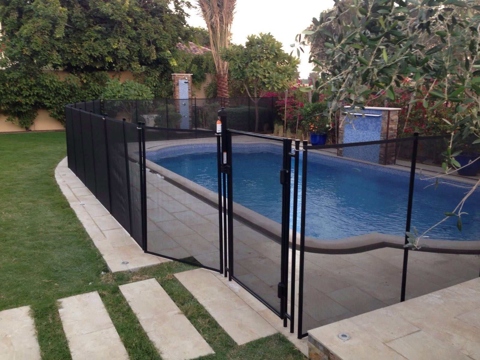 Removable Safety Fence Mesh Swimming Pool Safety Fence Self